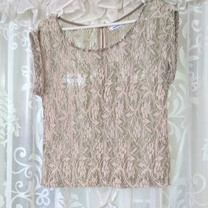 VALLEYGIRL Sage lace sheer crop top 3 <$15-items for $20